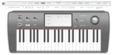 Music Keyboard - Pianola in Flash