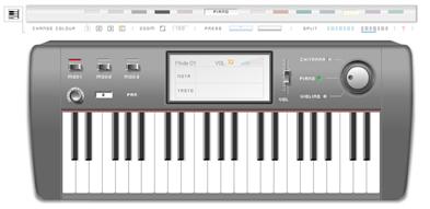 Music Keyboard - Pianola inFlash