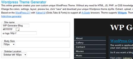 Crea temi per piattaforma WordPress