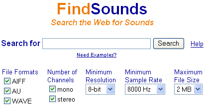 Findsounds - archivio effettisonori