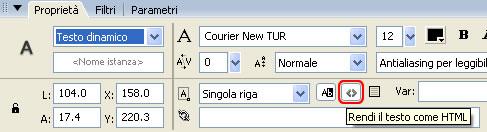 Rendere il campo di testo compatibile a HTML