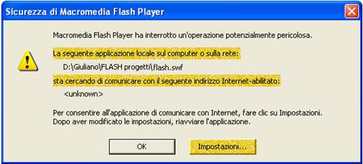 Abilitare il contenuto Flash in Locale