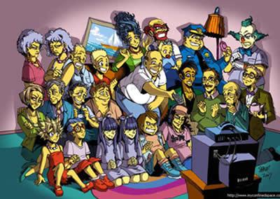 Simpson stile Manga