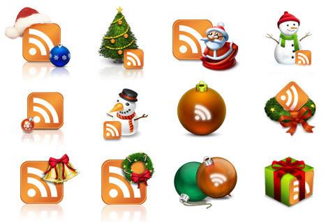 Christmas RSS Icons
