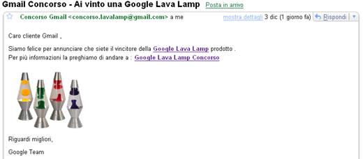 Ai vinto una Google Lava Lamp