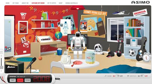 ASIMO the umanoid robot tours